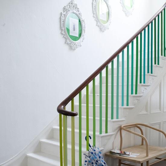 turkus ombre - schody