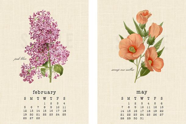 kalendarz botaniczny 2017
