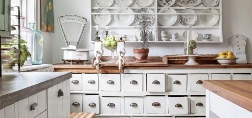 biała kuchnia vintage