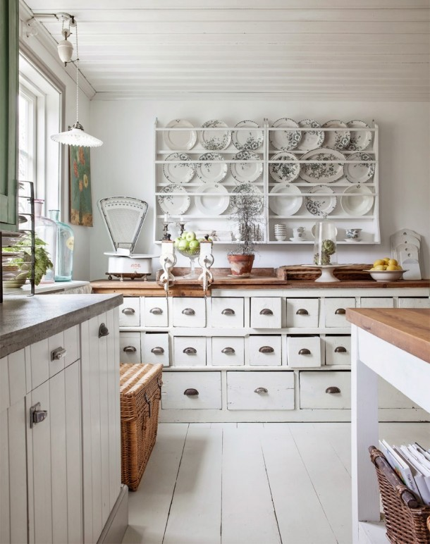 Wnętrze Dnia Kuchnia Vintage ładne Rzeczy