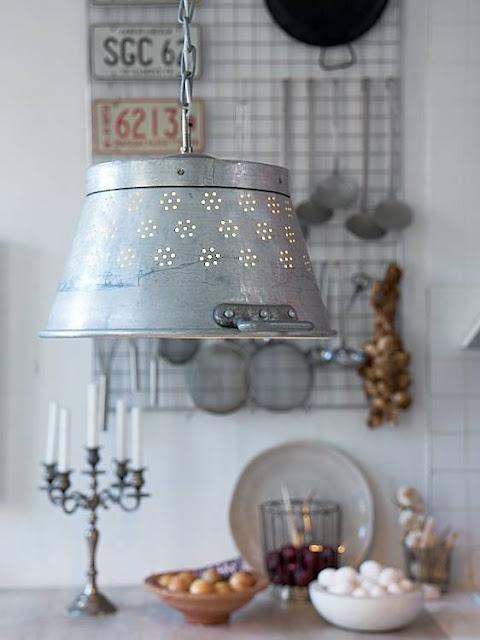 lampa z durszlaka