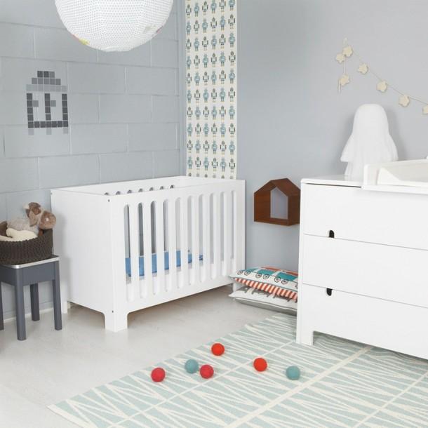 pokoj dla dziecka w szarosciach