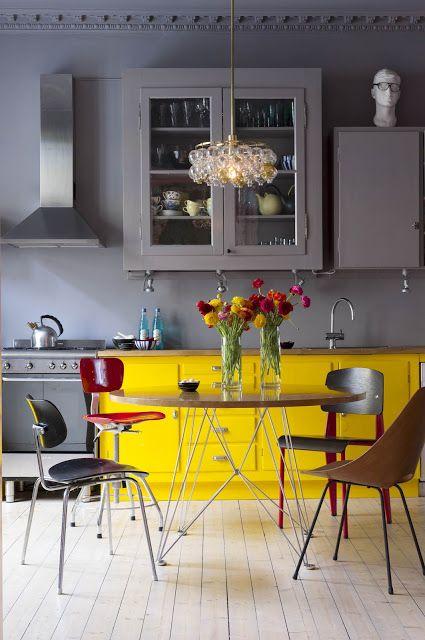 żółty + szary