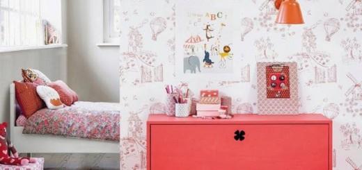 czerwony pokoj dzieciecy
