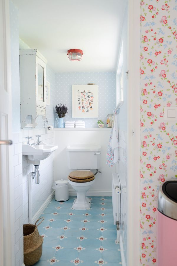 łazienka shabby chic