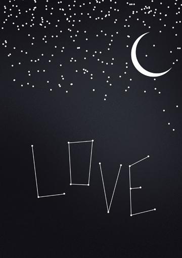plakat walentynkowy love