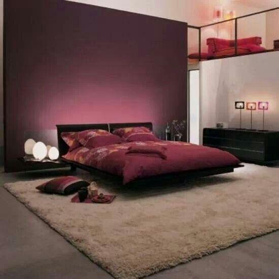 marsala sypialnia