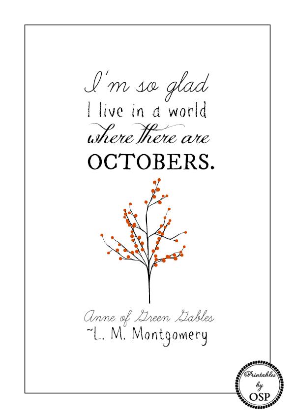 cytat Ania październik printable