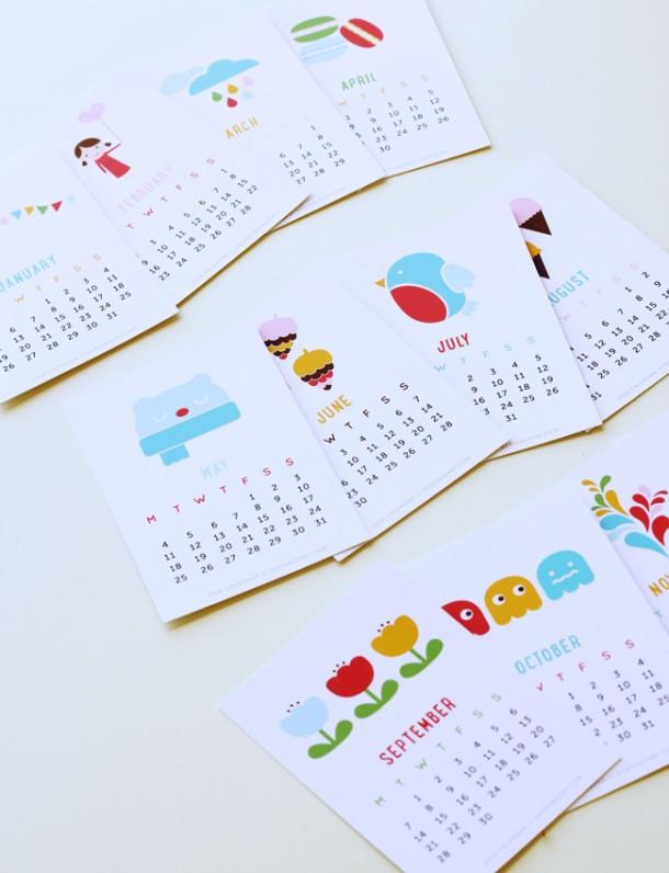 kalendarz kolorowy