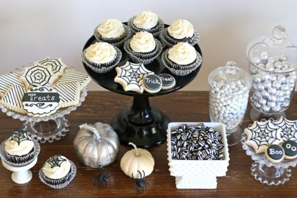 bialo-czarne halloween