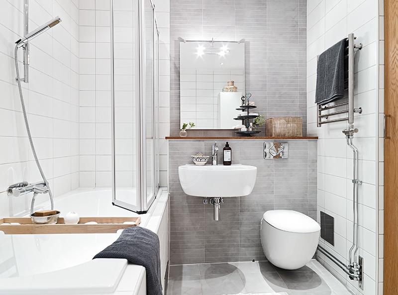 Wnętrze Dnia Mała Przytulna łazienka ładne Rzeczy