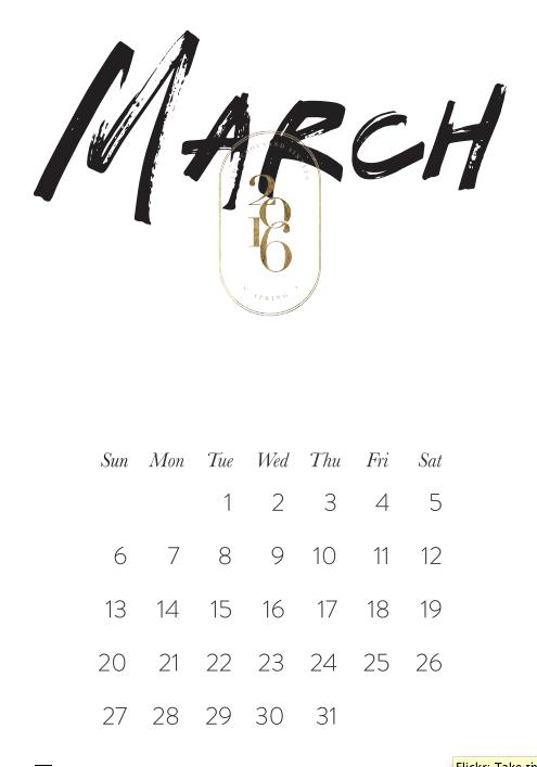 kalendarz do wydrukowania 2016