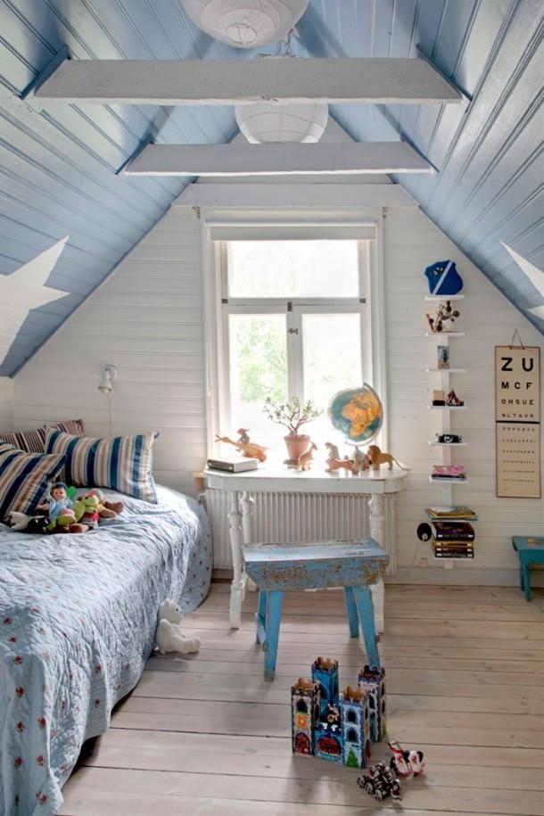 niebieski pokoj dla chlopca