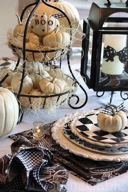 halloween na stole