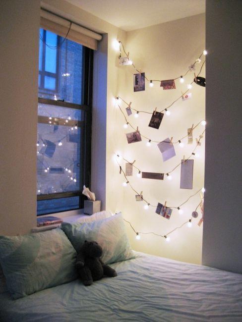 swiatelka w sypialni