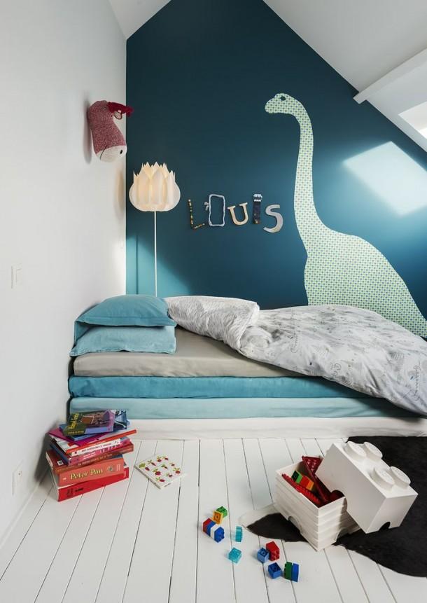 Chambre Garcon Bleu Turquoise : Pokoik z dinozaurem Ładne rzeczy