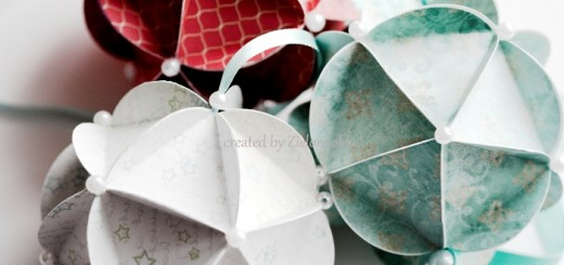 bombki z papieru