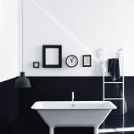 Wnętrze dnia: łazienka czarno-biała