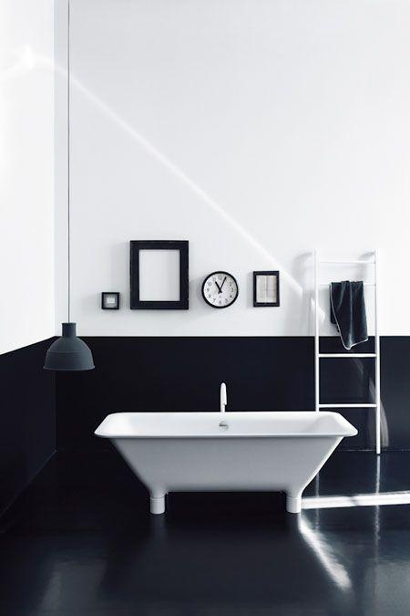 Wn trze dnia azienka czarno bia a adne rzeczy for Black and white bathroom design inspirations