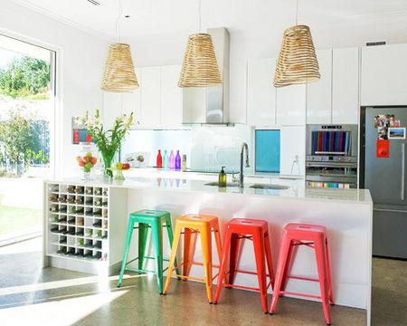 Wn trze dnia kolorowa kuchnia adne rzeczy for Neutral decor with pops of color