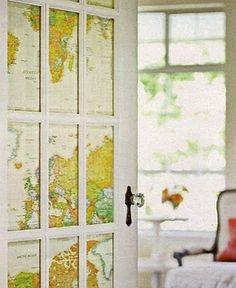 drzwi z mapa