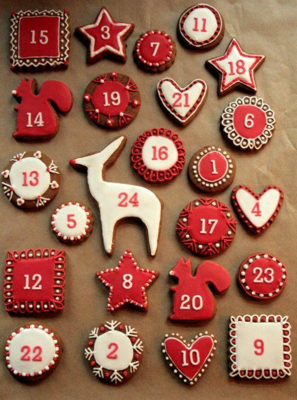 ciastka - kalendarz adwentowy