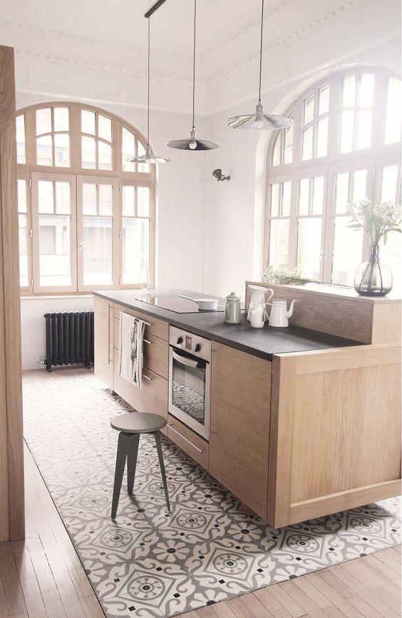 podloga a strefy w kuchni