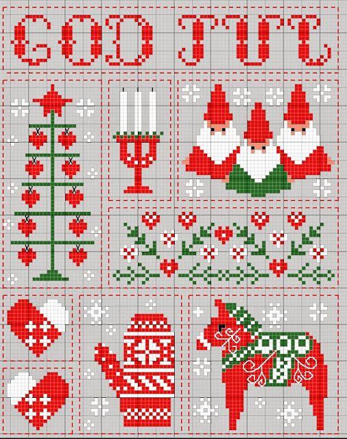 świąteczne wzory haftu
