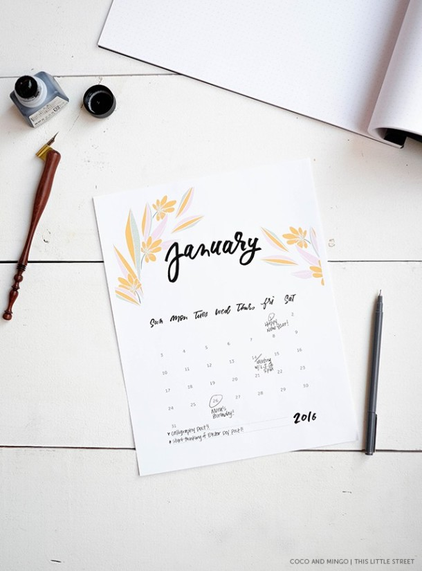 kalendarz do wydrukowania