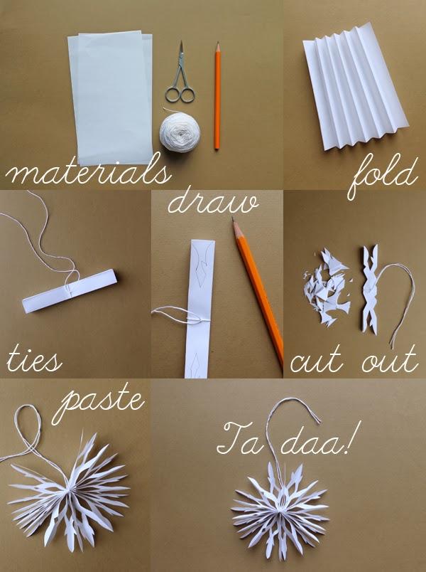 jak zrobic sniezynke z papieru