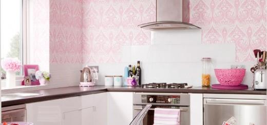 kuchnia na różowo
