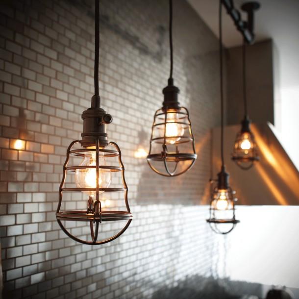 loftowa kuchnia - lampy